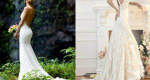 Выбор свадебного платья невесты с открытой спиной